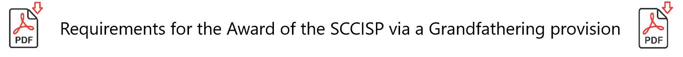 SCCISP Certification