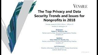 The Top Privacy and Data Security Trends and Issues for Nonprofits in 2018