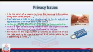 PGC Lecture: Privacy Issues, Data Protection Legislation