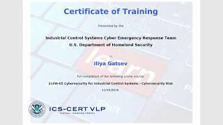 Iliya Gatsev-210W-05- Cyber Security for Industrial Control Systems-Cybersecurity Risk(Year 2016)
