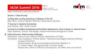 M2M Summit 2016 | Panel Discussion: Data Security Challenges