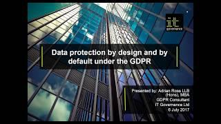 Data protection by design and by default under GDPR